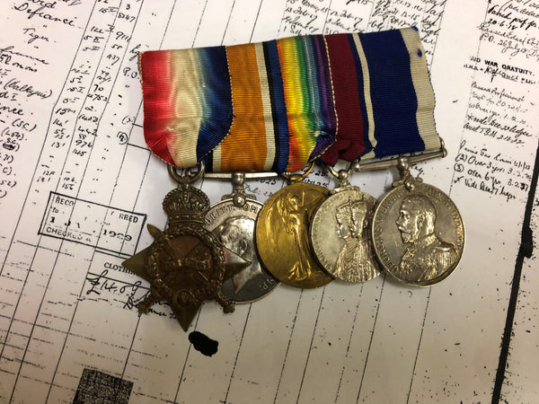 WW1 trio, 1935 Jubilee medal Long service RN group