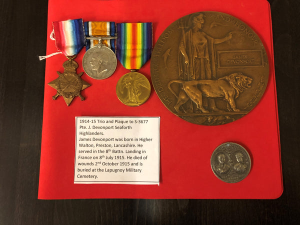 WWI Casualty Trio and Plaque