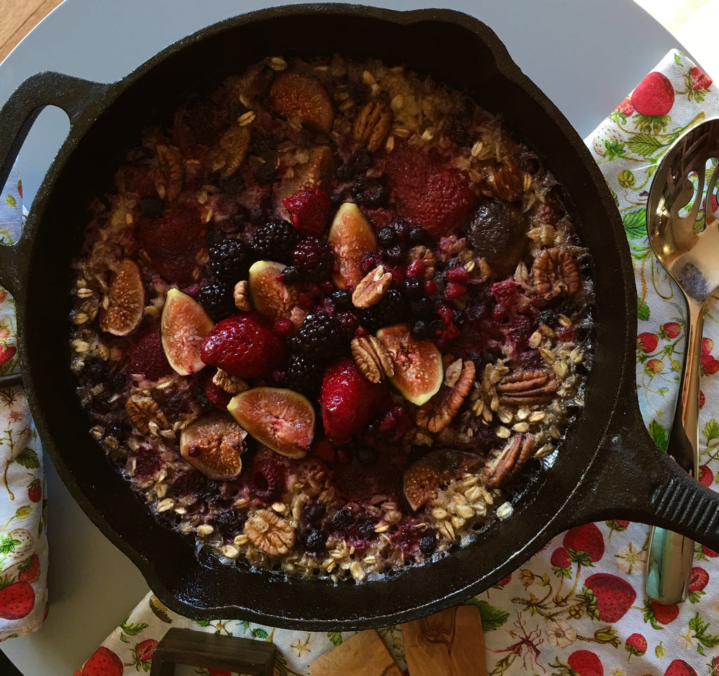 Cardomen Maple Oatmeal with Figs, Blackberries and Roasted Pecans