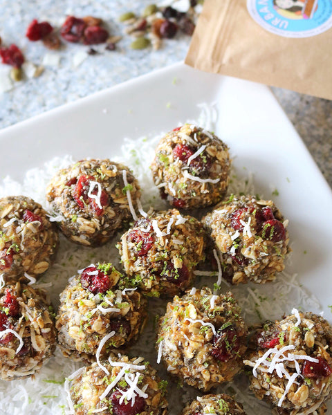 Coconut Lime Energy Balls Urban Hippie Granola