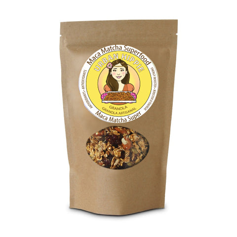 bag of urban hippie granola in maca matcha superfood flavor