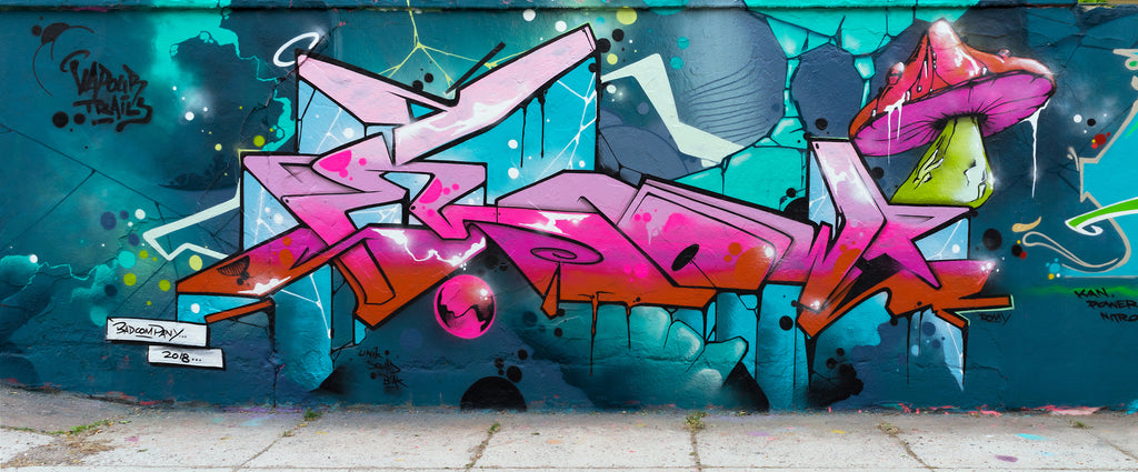 graffiti art urban wall piece colorfull mark126 flow 123klan best graffiti selection