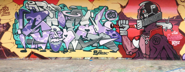 graffiti scien klor aiik sugar c 123klan 123kids montreal