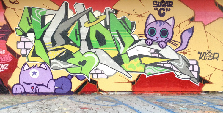 graffiti scien klor sugar c aiik 123klan 123kids montreal