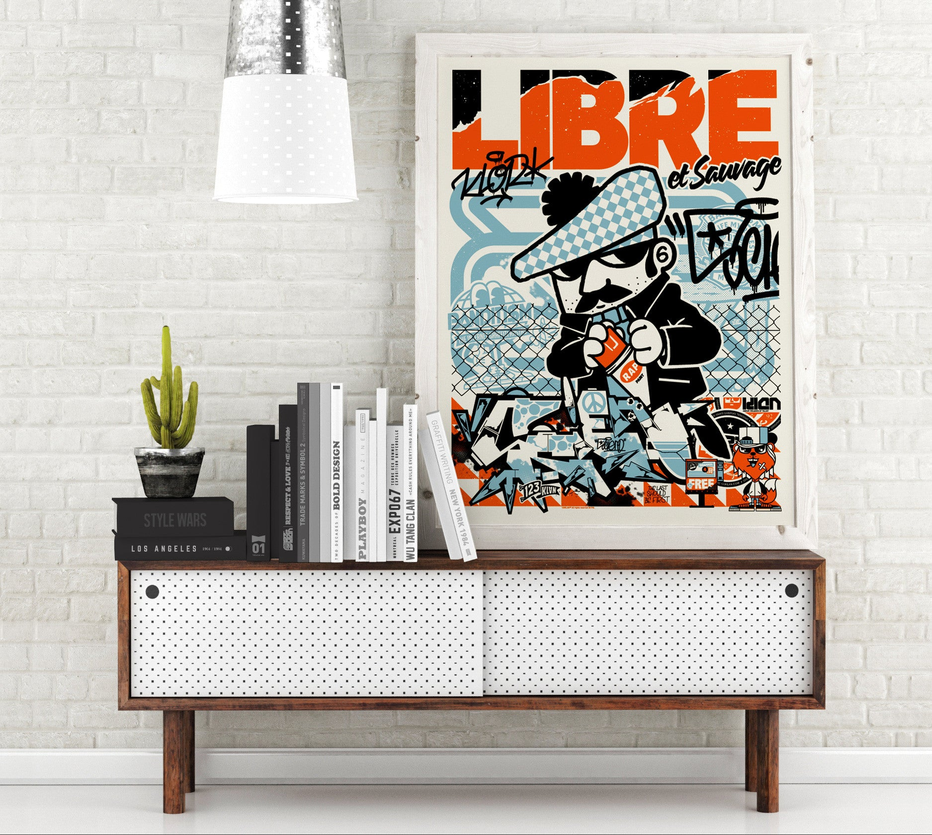 123klan poster libre et sauvage print made in usa