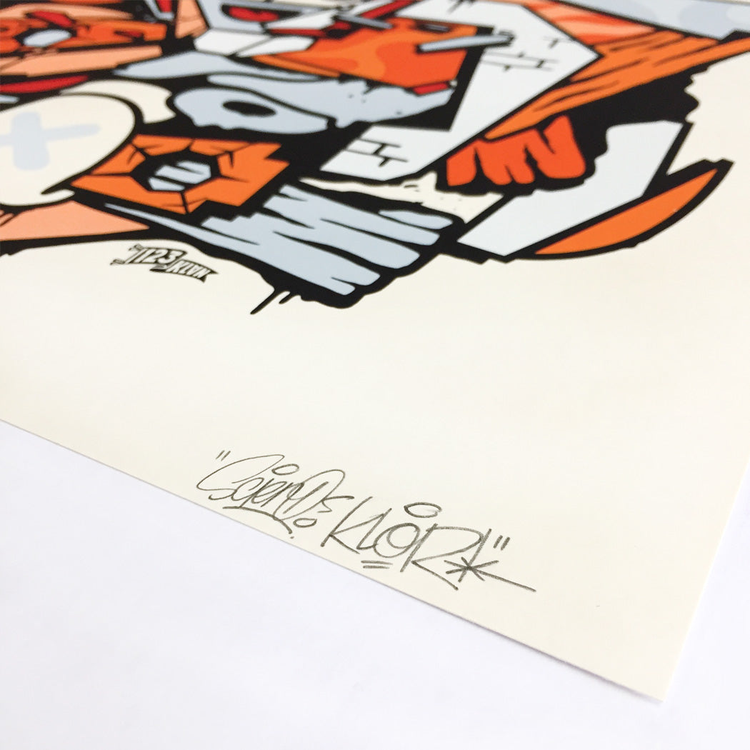 signed by the graffiti artist Scien and Klor