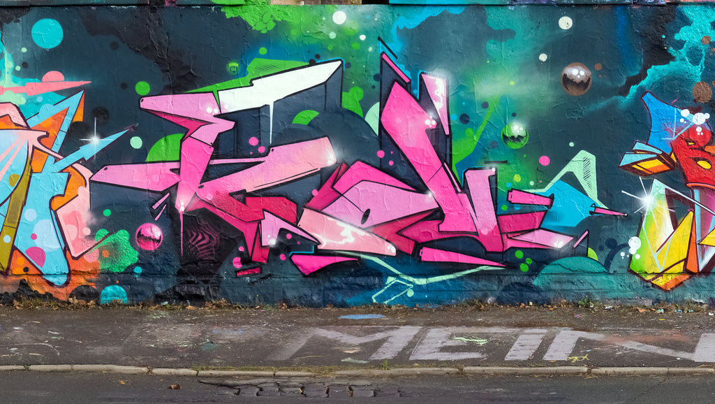 Pink paradise art graffiti wall mark 126 berlin 123klan urban  best selection