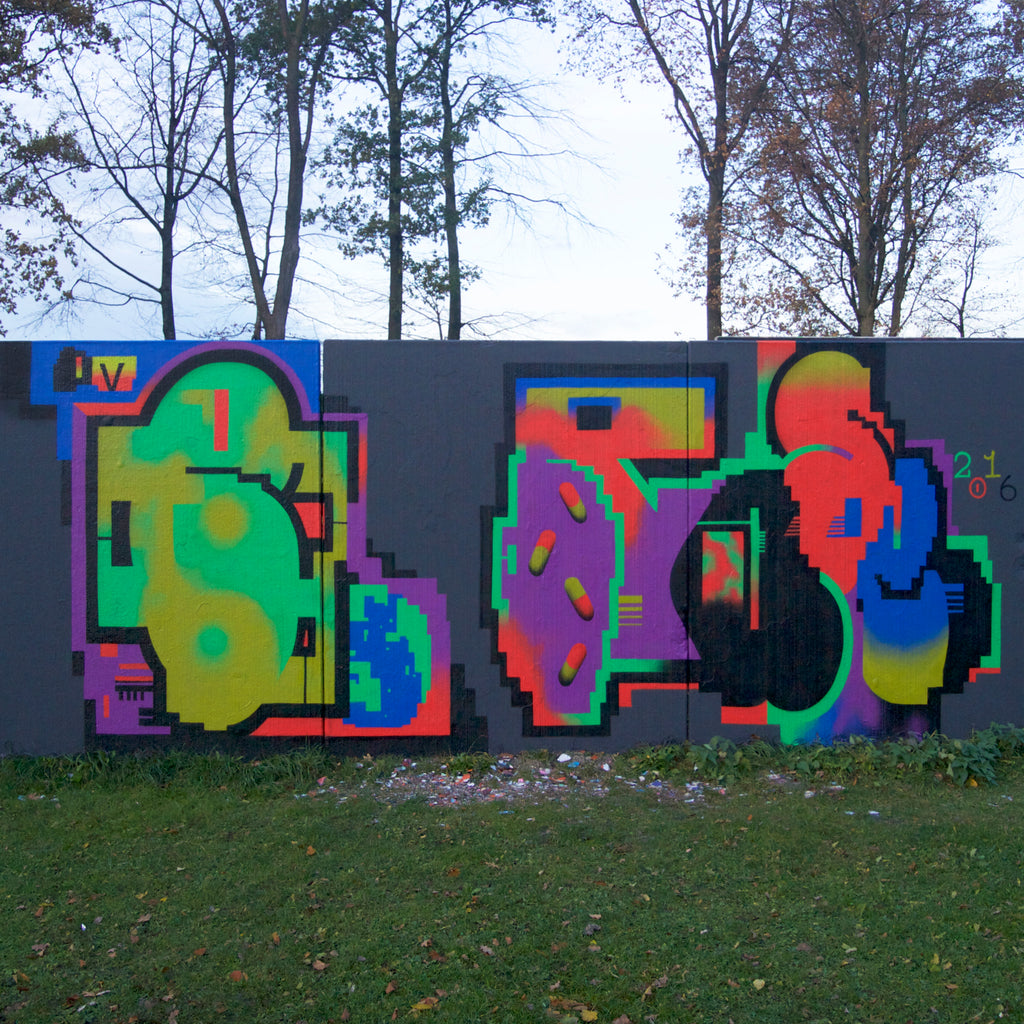 mutli colors best mural selection by 123klan graffiti art