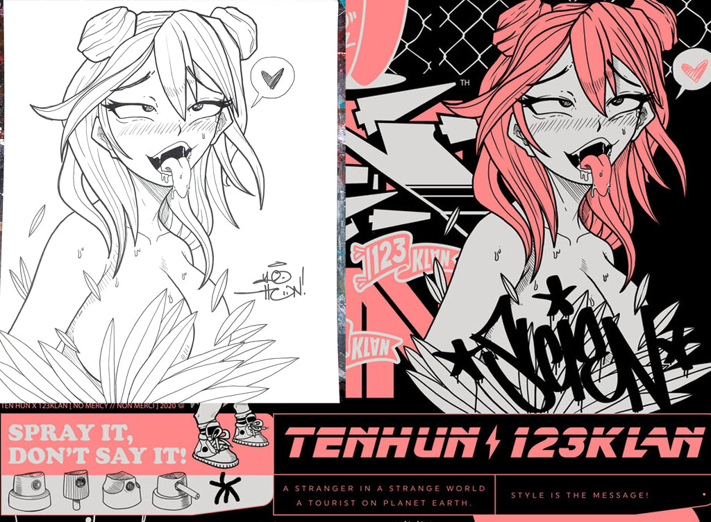 123KLAN 10HUNDRED SKETCHE ILLUSTRATION COLLABORATION