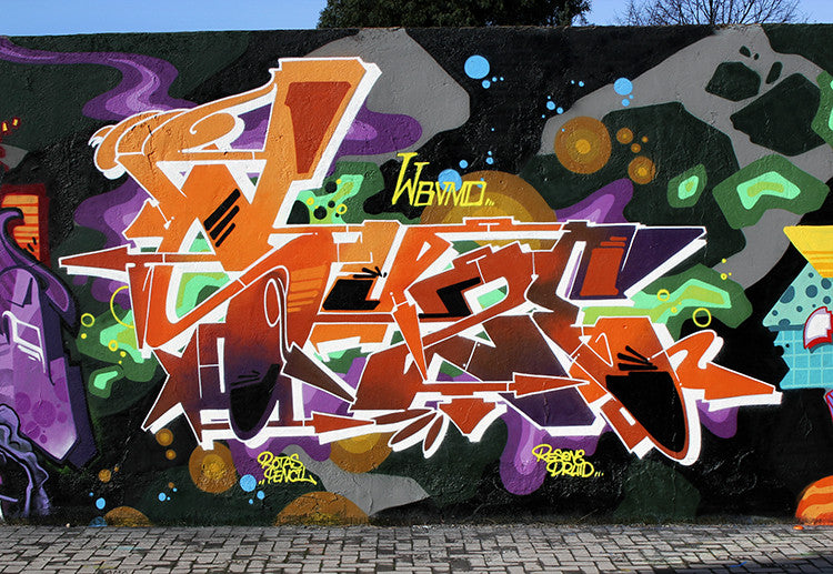 zeus40 wall graff art