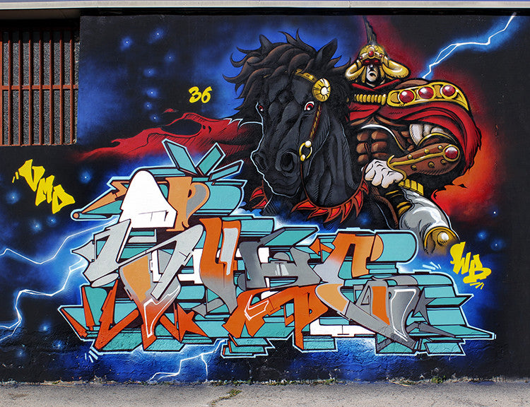 wall graffiti art zeus40 vmd