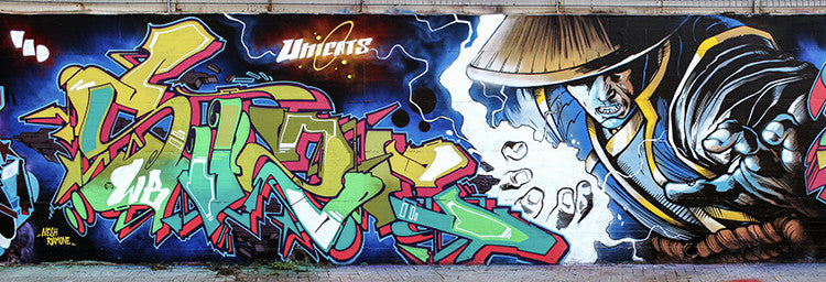zeus40 graffiti cartoon manga style art street wall