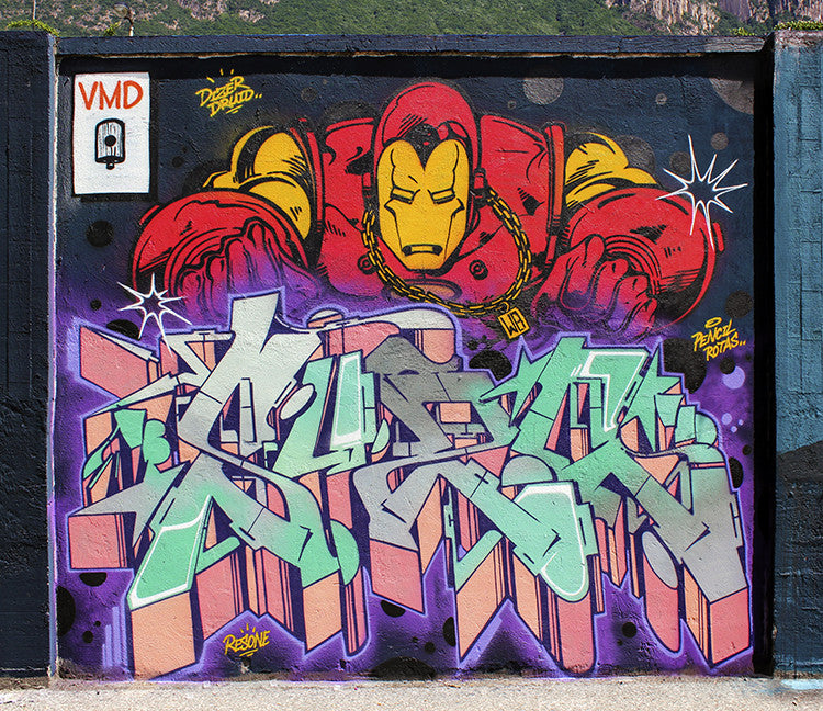 ironman graffiti marvel zeus40