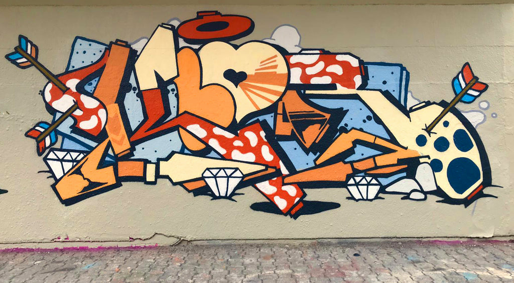 graffiti art wall 123klan piece of the day by klor