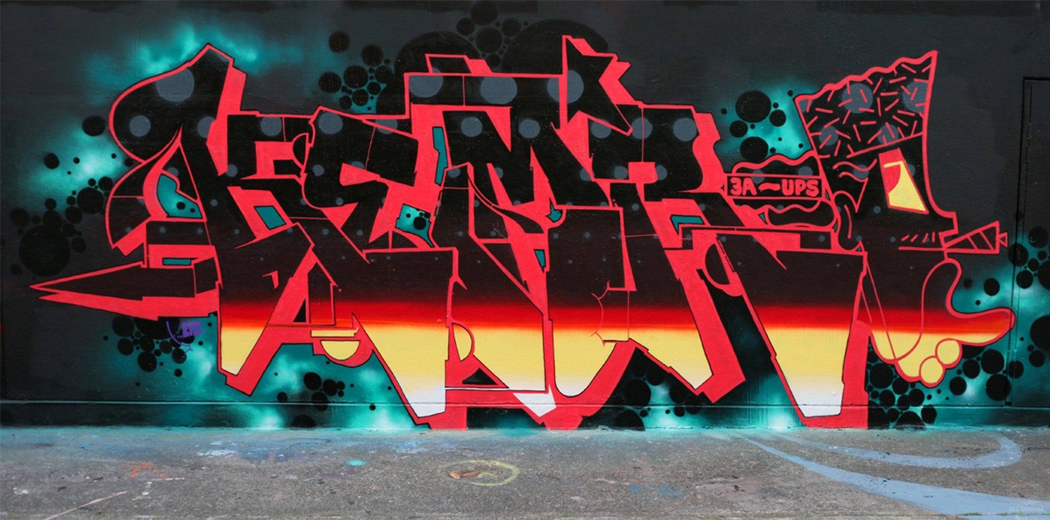 graff kem5 bandit art wall