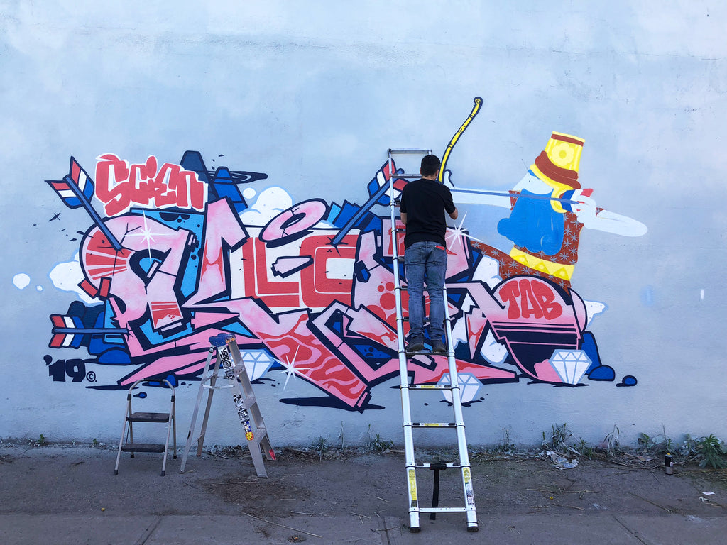 piece of the day graffiti video 123klan klor and jober, visual art, painting