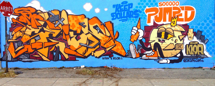 graffiti 123klan so pumped scien klor montreal