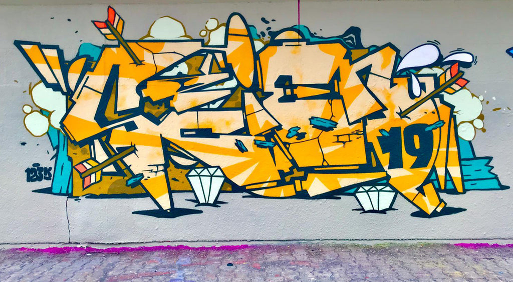 Graffiti piece of the day by scien of 123klan, art urban
