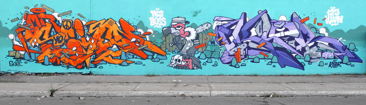 graffiti 123klan scien klor bandit1sm can you rock montreal wildstyle