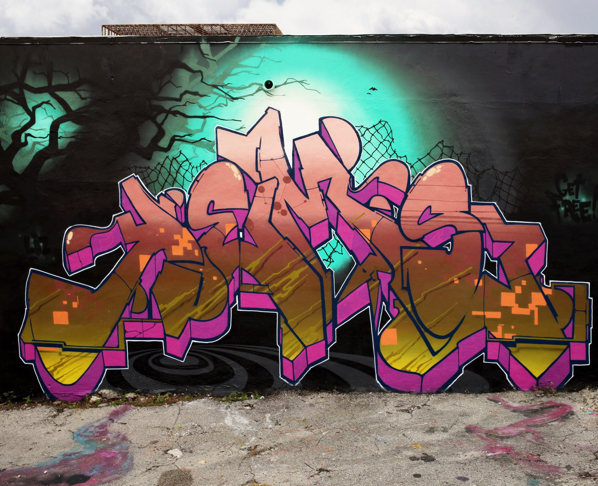 graffiti kems bandit of the day 123klan pink