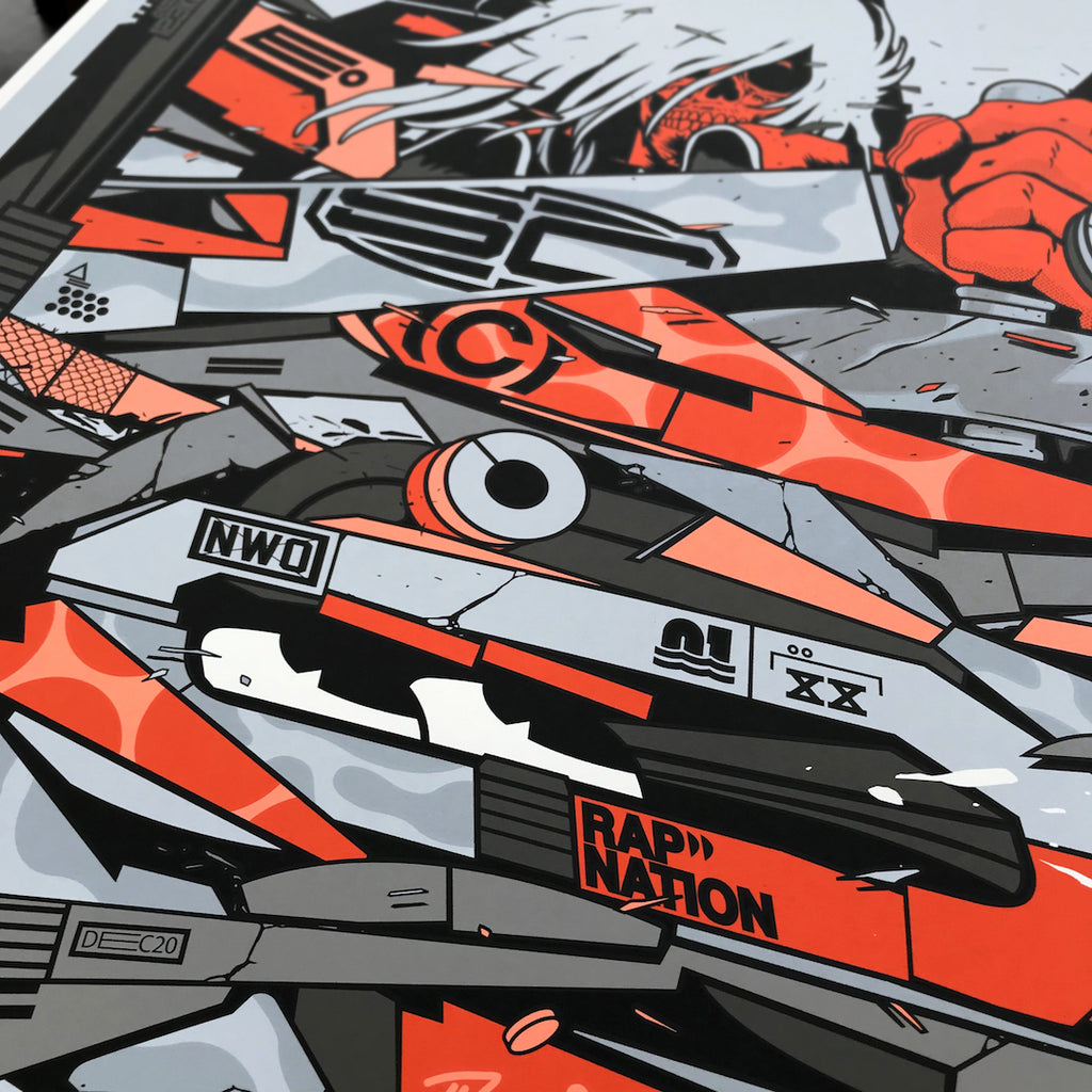 close up vector art screenprint poster prints 123klan graffiti visual