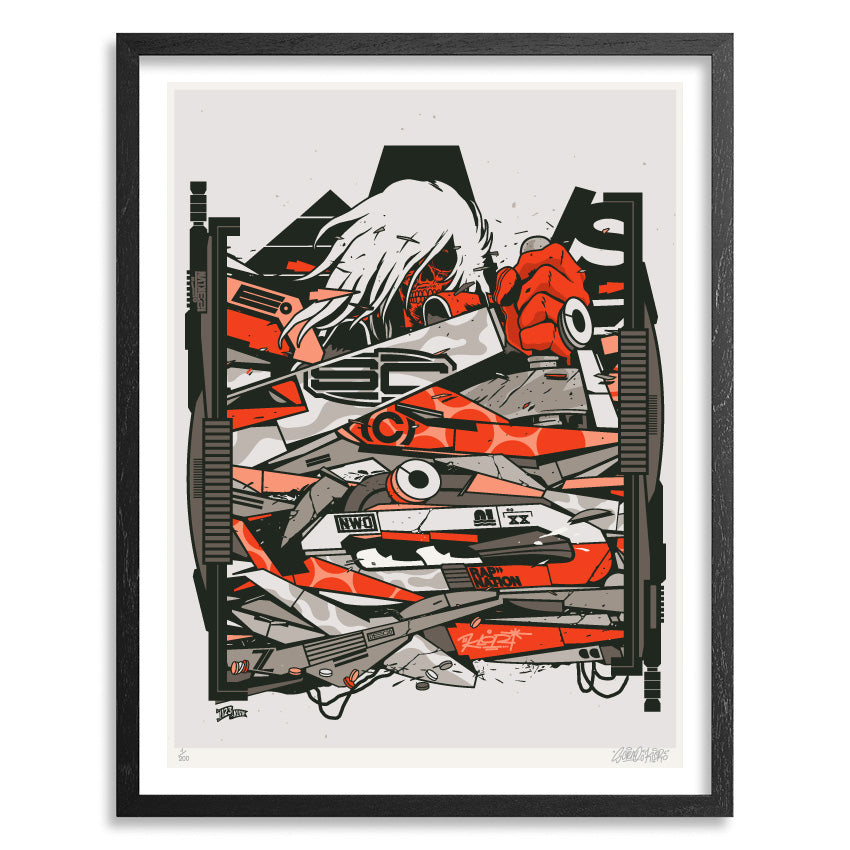 prints poster seriegraphie screenprinting 123klan art graffiti graphic albator capitaine harlock