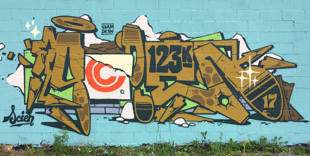 scien 123klan montreal graffiti montana colors mtn94 bandit1sm graffiti art
