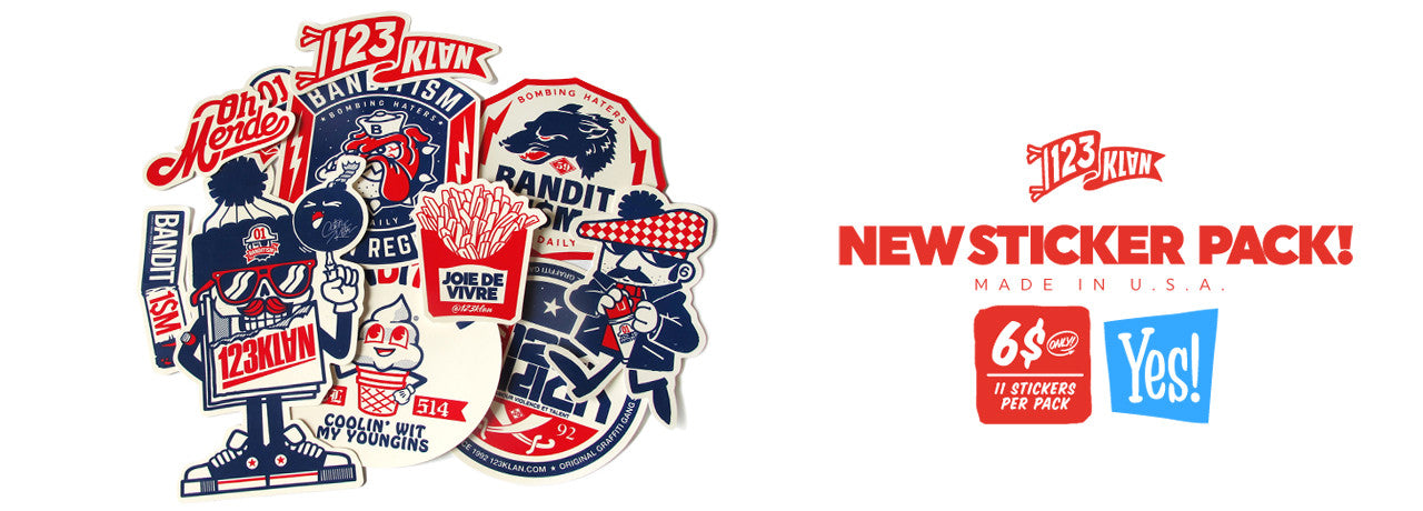 123klan sticker pack v8 bandit1$m