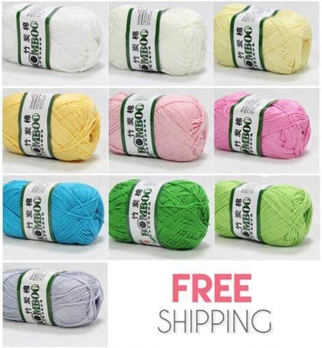 10x50g of Soft Smooth Natural Bamboo Cotton / Baby Cotton Yarn (Mild Colors)