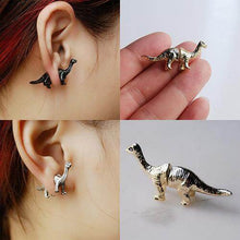 Load image into Gallery viewer, Dinosaur Shaped Ear Studs