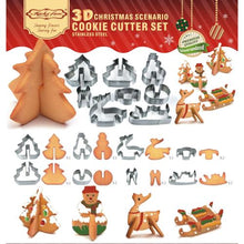 Load image into Gallery viewer, Christmas Cookie Cutter Set