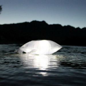 Inflatable Solar-Powered Flashlight Bag