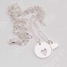 Load image into Gallery viewer, Mother & Daughter Heart Cutout Necklace