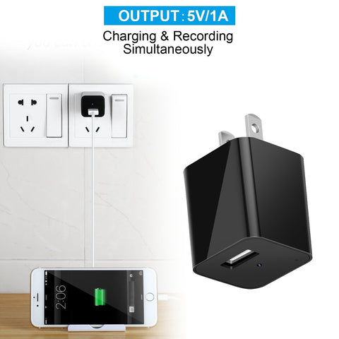 Anti-theft covert Wall Charger Camera