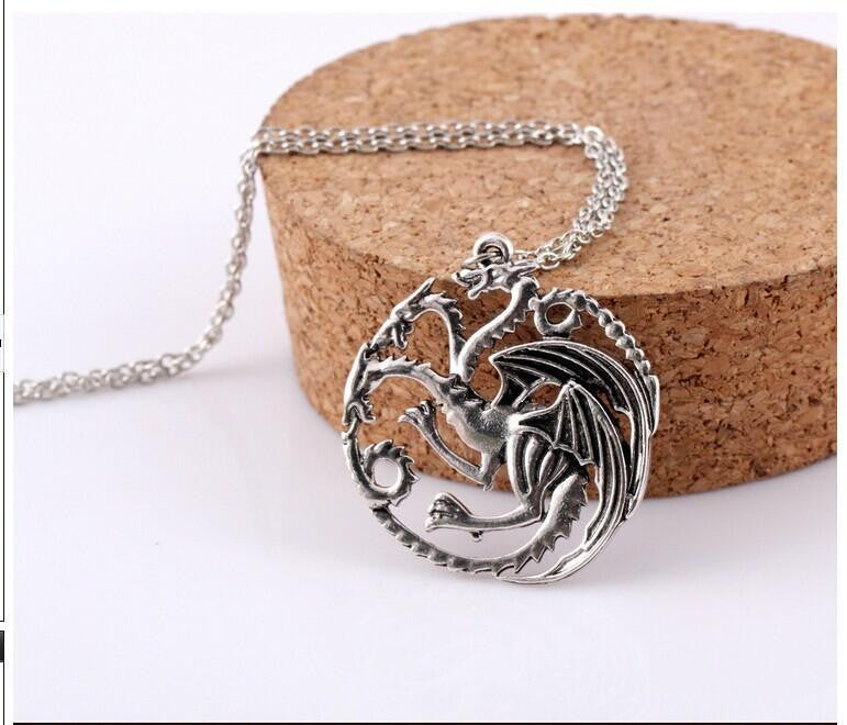 ★ FREE ★ GoT - Targaryen Dragon Badge Necklace