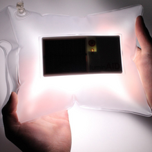 Load image into Gallery viewer, Inflatable Solar-Powered Flashlight Bag