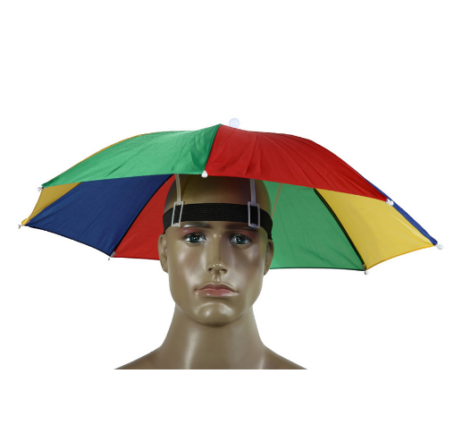 Umbrella Rainbow Hat