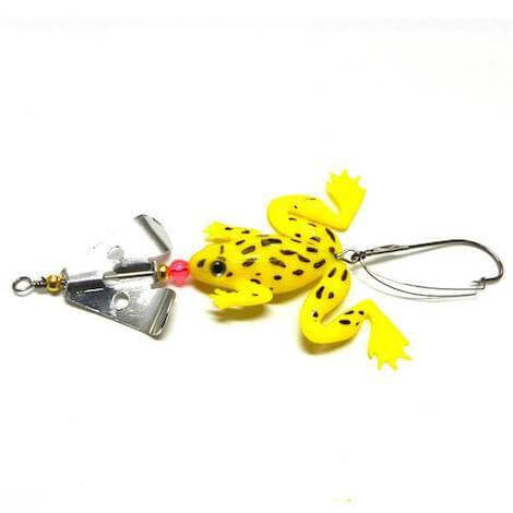 ★ FREE ★ 4 Soft Rubber Frog Buzzbait Fishing Lures 6.2 grams