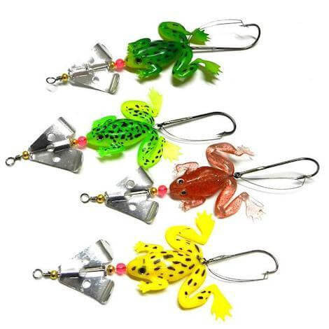 4pcs Soft Rubber Frog Fishing Lures