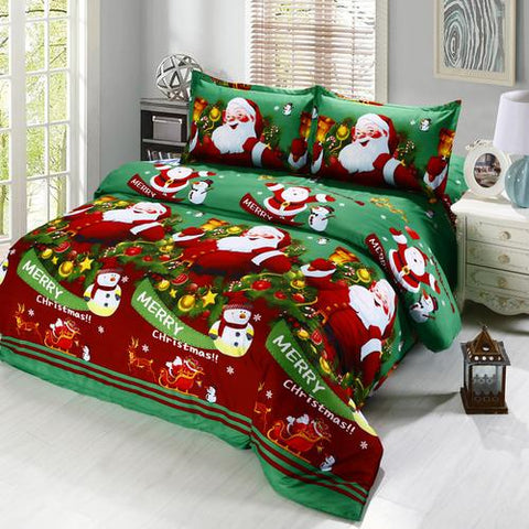 Santa Clause Rudolf Duvet Cover Set