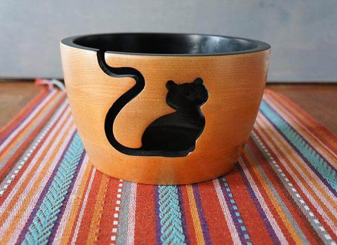 Cute Cat Yarn Bowl for Crochet/Knitting