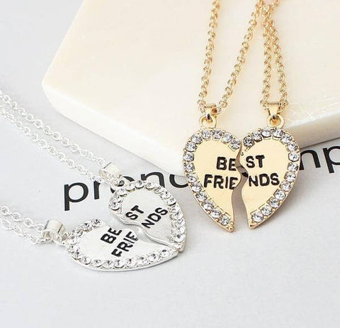 Broken Hearts Best Friends Pendant Necklaces