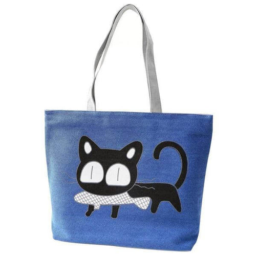 Cat Shoulder Tote Bags