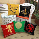 ★ FREE ★ GoT - House Sigils Family Crest Pillow Case