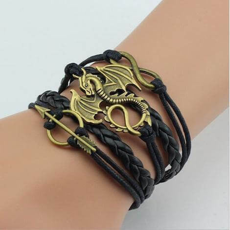 GoT - Daenerys Targaryen Leather Dragon Bracelet