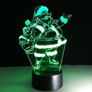 Changing Santa Claus Lamp