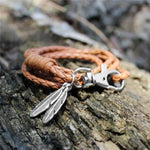 Friendship Feather Leather Bracelet