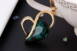 Emerald Necklace and Earrings