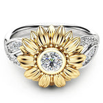 Crystal Sunflower Ring