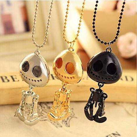 ★ FREE ★ Alien Skull Head Pendant Necklace